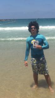Omri on beach